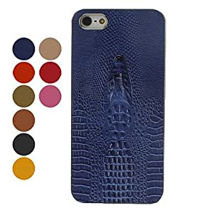 Alligator Pattern Embossed Hard Case for iPhone 5/5S (Assorted Colors) --- COLOR:Green