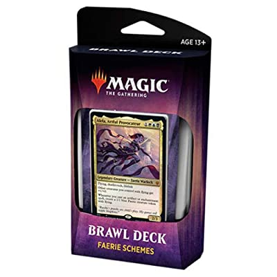 Magic The Gathering Throne of Eldraine Faerie Schemes Brawl Deck C67460000-FAE: Toys & Games