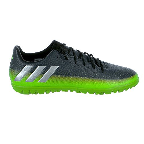 adidas Men's Messi 16.3 TF Soccer Shoe, Dark Grey/Metallic Silver/Neon Green, (10.5 M US) (Soccer Shoes Men Turf)