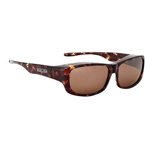Shiny Glass Tortoise Amber (Jonathan Paul Pandera Polarized Fitover Sunglasses in Shiny Tortoise with Amber Lenses)