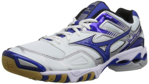 Mizuno Women's Wave Bolt 3 Volley Ball Shoe,White/Royal,11 M US