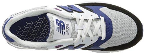 New Balance - Zapatillas de Piel para hombre blanco blanco, Weiß, 40