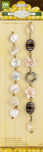 Making Memories Jill Schwartz Vintage Groove Strand Combo Abalone and Button (Abalone Strand)