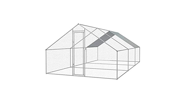 Nishore - Jaula para Pollos de Exterior, de Acero galvanizado, 3 x 6 x 2 m: Amazon.es: Hogar