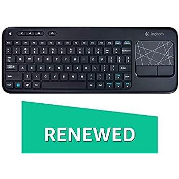 Amazon com: Logitech Wireless Touch Keyboard K400 with Built-In