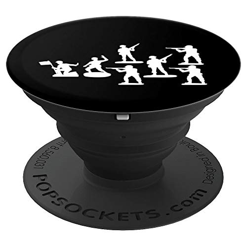 Toy Soldiers Art | Cute Little Lovers Design Gift - PopSockets Grip and Stand for Phones and Tablets