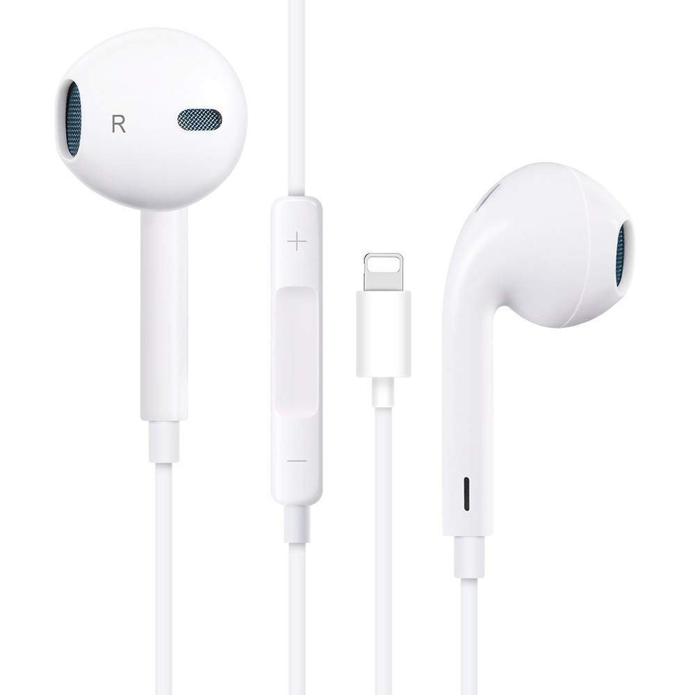 Wired Earbuds Earphones Headphones with Microphone and Volume Control, Compatible with i Phone 11 Pro Max XS XR X 8 7 Plus and iOS 10 11 12 13.