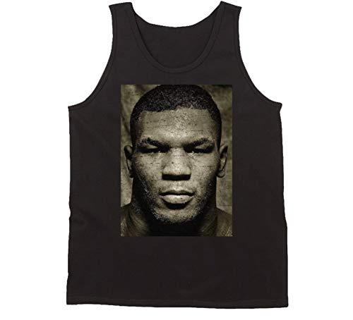 Vintage Mike Tyson Photograph Tank Top L Black