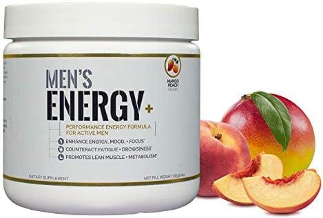 Mens Energy Plus – Performance Energizing Pre Workout Formula for Active Men – Mango Peach Flavor