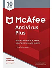 McAfee AntiVirus Plus, for 10 PC and Apple Mac Devices, eCode