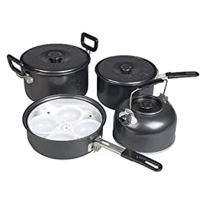 KAMPA GASTRO NON STICK LARGE COMPACT FAMILY COOK SET SAUCEPAN/PAN CAMPING NEW by OV