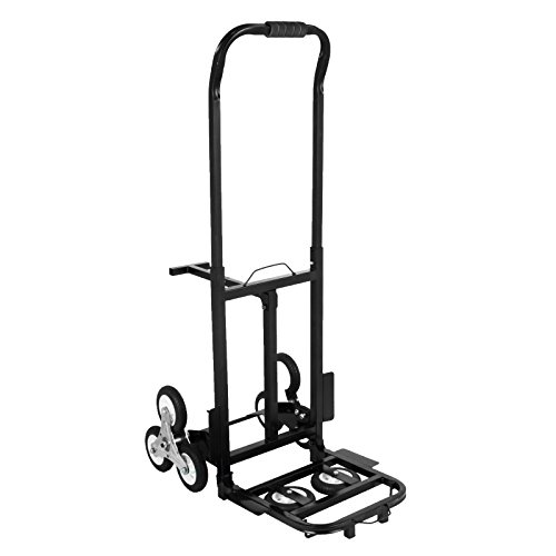 Happybuy Stair Climbing Cart 45 Inches Portable Hand Truck 2x Three-wheel Hand Truck Stair Climber 330LB Capacity Folding Stair Hand Truck Heavy Duty by Happybuy