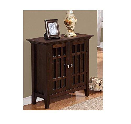 WYNDENHALL Freemont Dark Tobacco Brown Low Contemporary Storage Media Cabinet/ Buffet Deep Tobacco Finish Wood