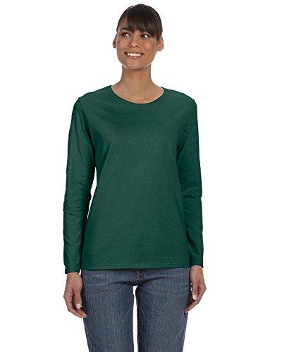 Green Ladies T-shirt (Gildan Heavy Cotton Ladies' Long-Sleeve T-Shirt, Forest, X-Large)