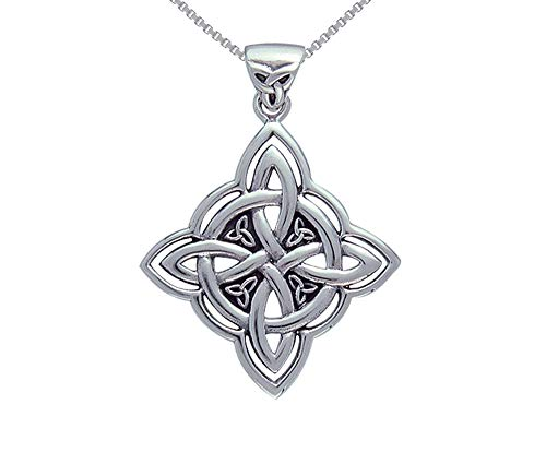 - Jewelry Trends Celtic Trinity Knot Circle of Life Sterling Silver Pendant Necklace 18