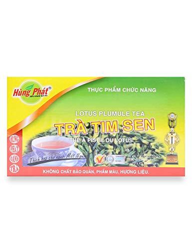 (Lotus Plumule Tea - Brand Hung Phat - 2 boxes of 25 teabags x 2gr )