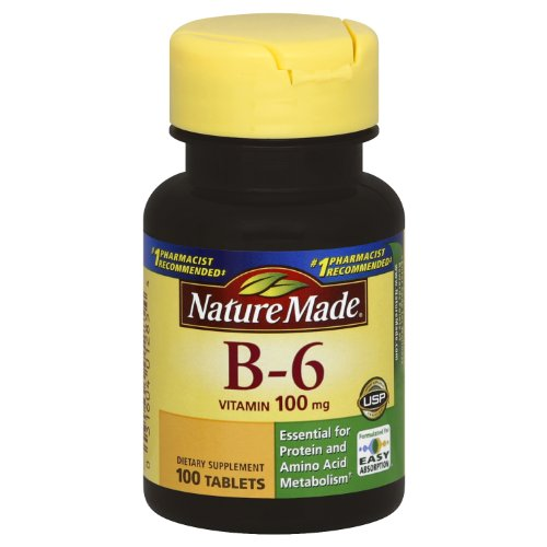 Nature Made Vitamine B-6 100 mg, comprimés, 100-Count (Pack de 2)