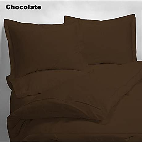 Luxury 600 Thread Counts 7pc Bed In A Bag With 300GSM Comforter Queen Size Chocolate Solid 100 Egyptian Cotton By PARADISEHOUSE