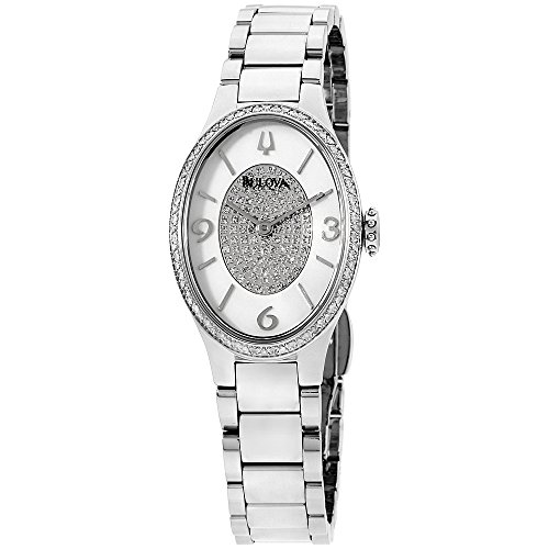 Diamonds White Dial (Bulova Diamond White Dial Stainless Steel Ladies Watch 96R1933XG (Certified Refurbished))