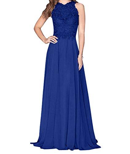 Blau Damen Dunkel A Promkleider Abendkleider Charmant Lang Royal Attraktive Linie Abschlussballkleider Blau Rock dtTwnq
