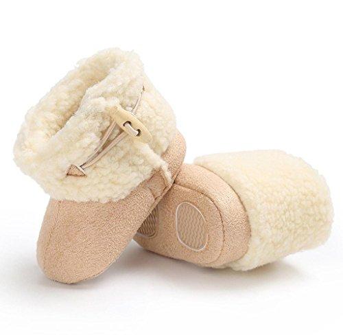 Covermason Neugeborene Baby Weiche Sohle Schuhe Krippenschuhe Prewalker Warm Stiefel Beige