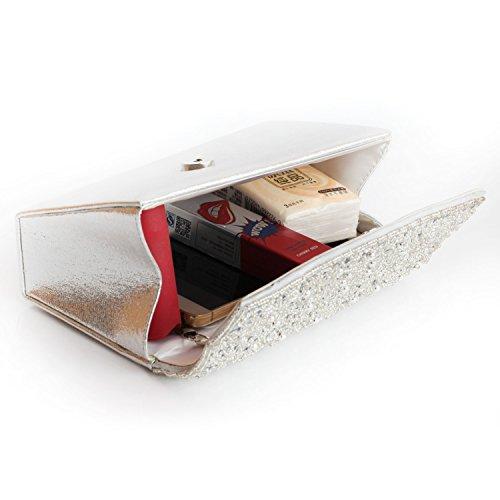 Bags bag Silver Gift Clutch New Crystal Design HMaking �� Womens Evening Rhinestone PXqzwxE