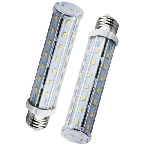 Bonlux 2-pack E26 Medium Screw Base 15W LED Corn Light Bulb, T10 Tubular Lamp, Replacement for 140W Halogen/Incandescent Bulb (Daylight 6000K)