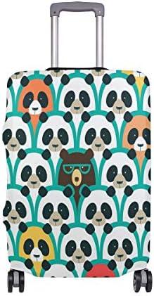 (ソレソレ)スーツケースカバー 防水 伸縮素材 キャリーカバー ラゲッジカバー 熊 くま かわいい おもしろ 動物柄 可愛い おしゃれ 防塵 旅行 出張 便利 S M L XLサイズ