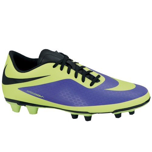Nike Hypervenom Phade FG Mens Football Boots 599809 Soccer Cleats (UK 8 US 9 EU 42.5, Electro Purple Volt Black 570)