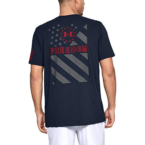 Under Armour Men's Freedom Express Flag Tee, Academy (408)/Red, ()