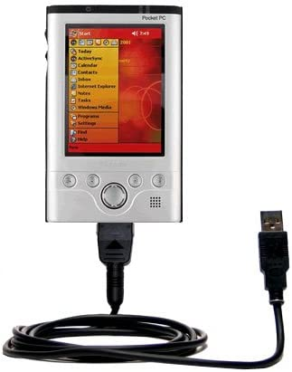 Gomadic Hot Sync and Charge Straight USB Cable for The Toshiba e740 Built TipExchange Technology Charge and Data Sync with The Same Cable