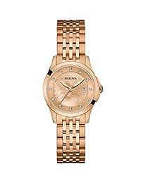 Bulova Women's 97P112 14mm Rose Gold Watch Bracelet