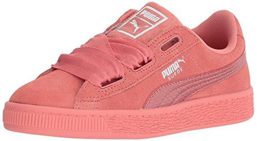 PUMA Unisex-Kids Suede Heart Snk,Shell Pink/Shell Pink,3 M US Little Kid ()