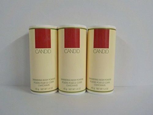 Avon Candid Shimmering Body Powder 1.4 Oz. (Lot of 3)