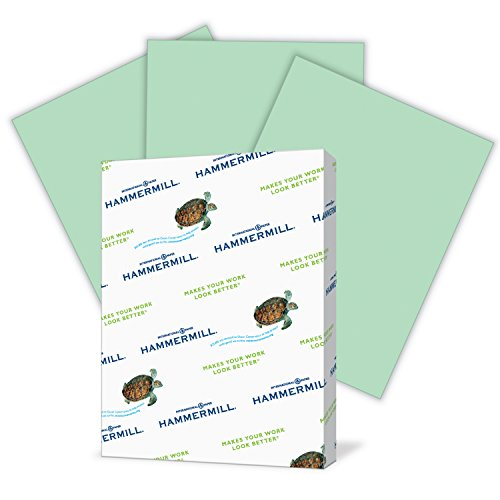 Hammermill Colored Paper, Green Printer Paper, 20lb, 8.5x14 Paper, Legal Size, 500 Sheets / 1 Ream, Pastel Paper, Colorful Paper (Green Printing)
