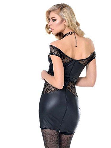 Kunstleder Damen Kleid Heloise 704315 Catanzaro Kleid Patrice Minikleid Wetlook Schwarz Stretchkleid qtrwtHxP