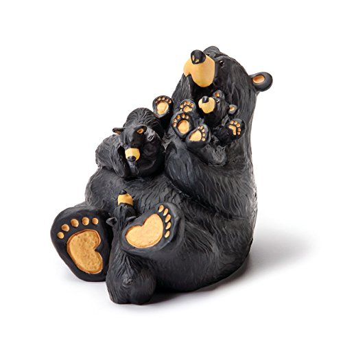 (DEMDACO Home Again Black Bear 4 x 4 Hand-cast Resin Figurine)