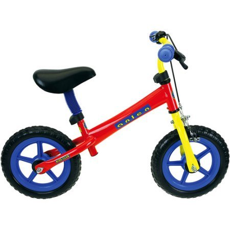Lightweight, Easy to Ride Steel Balance Bike, Saddle and Handlebar are Adjustable, EVA Tires, Black/Red/Blue/Yellow, Perfect Gift For Kids