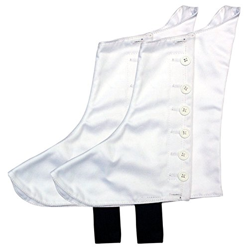 Highland Pipers Drummer Kilt Spats Scottish Kilt Spat with 8 White Buttons -