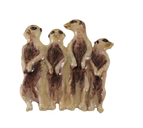 gns Meerkat Family, Hand Painted Pin, MP170 ()