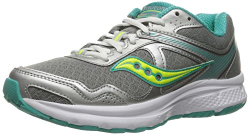 Saucony Women's Cohesion 10 Running Shoe, Grey/Tea/Ct, 8 M US