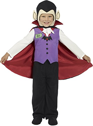 [Smiffys Kids Vampire Dracula Cute Toddler Halloween Costume M] (Toddler Vampire Halloween Costumes)