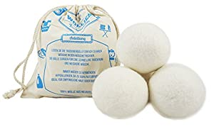 4 x Trocknerball aus 100% Schafwolle zum Strom sparen und für weichere...
