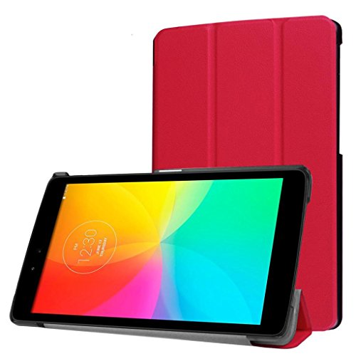 Gotd Folding Stand Leather Case Cover gor LG Gpad3 8.0 V525 (Red)