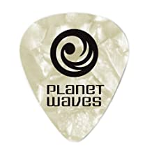 Planet Waves White Pearl Celluloid Guitar Picks, 10 pack, Heavy