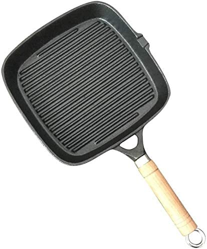 Square Grill Pan, premium fundido Hierro plancha ...