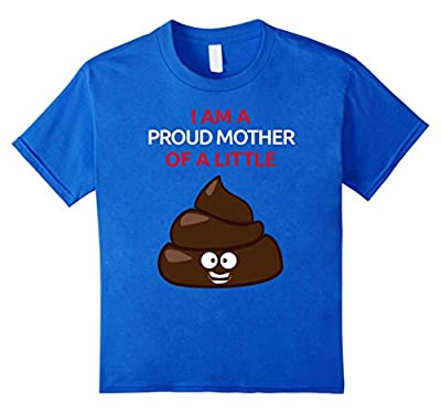 Funny Shirt For Mother's Day Toddler Mom Poop Emoji Shirt
