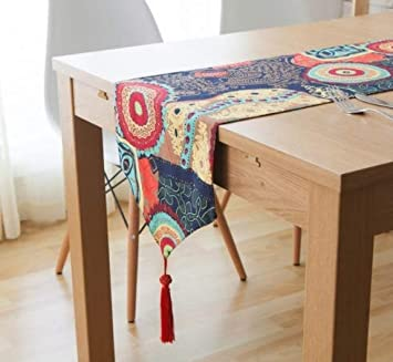 LXHZQ Camino De Mesa Table Flag Fashion Home Double Deck