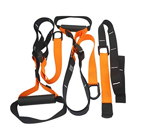 Resistance Straps Trainer Bundle Complete BodyWeight Training Straps Kit Five Anchoring Solutions with Easy Setup for Home, Gym & Outdoors Workouts