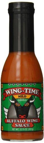 Wing Time Buffalo Wing Sauce, Garlic, 13 Ounce ()